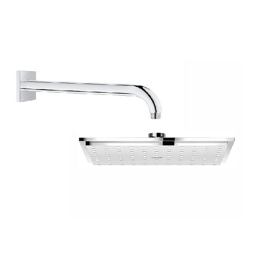 GROHE 27479000<br>ALLURE BRILLIANT <br>方型Rainshower頭頂花灑 <br>(含 壁面上固定桿 28.2cm)示意圖