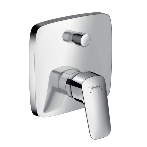 Hansgrohe 71405000<br> Logis 埋壁式-雙出水龍頭 - single lever bath mixer示意圖